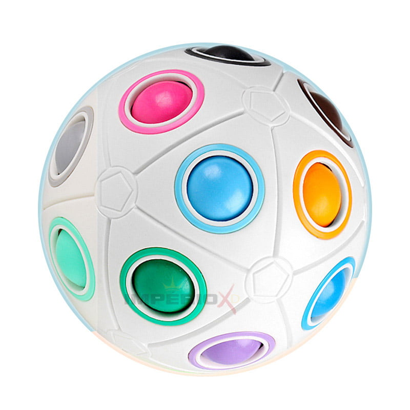 Cubo Mágico Bola Puzzle Rainbow Ball - 20 Cores - Moyu
