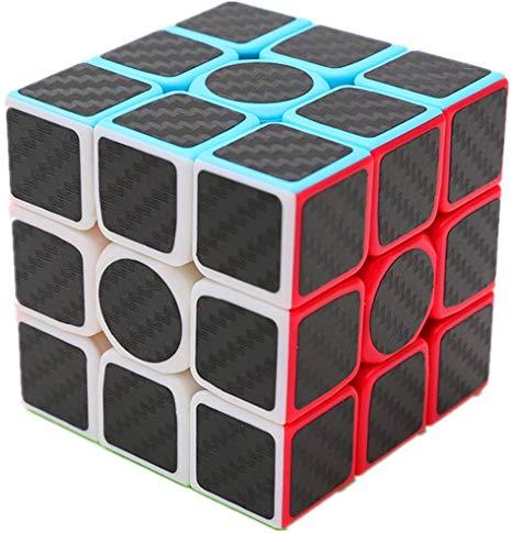 Cubo Mágico Warrior W 3x3x3 Qiyi Carbon Fiber Stickerless