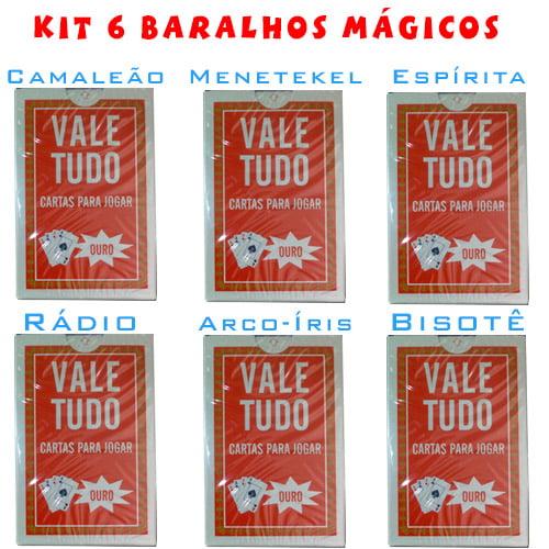 Kit com 6 Baralhos Mágico