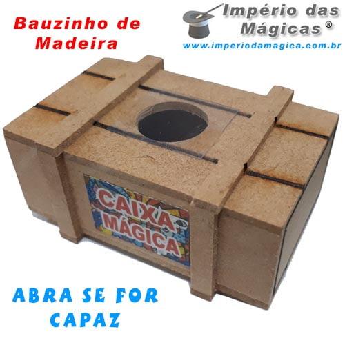 Bauzinho de Madeira - Abra se for Capaz
