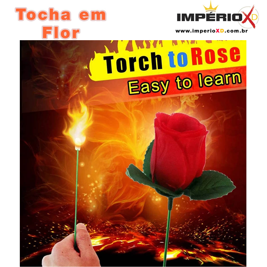Tocha em Flor - Rosa