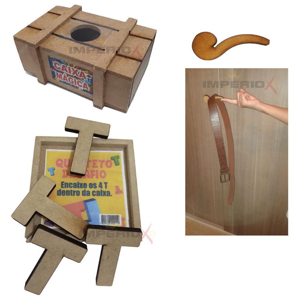 Kit de Quebra Cabeças com 3 Peças