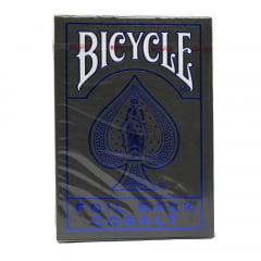 Baralho Bicycle MetalLuxe Cobalt Azul Caixa Cinza Metalizado