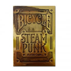 Baralho Bicycle Steampunk Gold - PREMIUM Deck