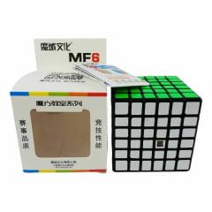 Cubo Mágico Profissional Moyu MF6 6x6x6 Preto