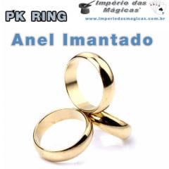 Mágica Anel Imantado PK Ring Aliança - Dourado