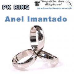 Anel Imantado PK Ring Aliança - Prateado